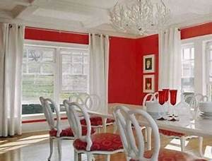 deco salle a manger rouge et blanc With salle a manger rouge et blanc