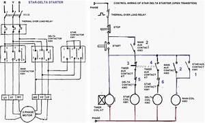 Motor Star Delta Starter Wiring Schematic
