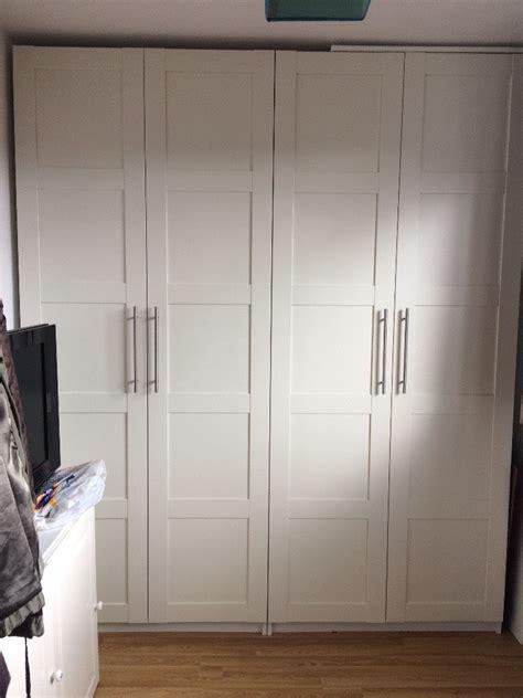 ikea pax doors ikea white pax wardrobes with bergsbo doors in standish