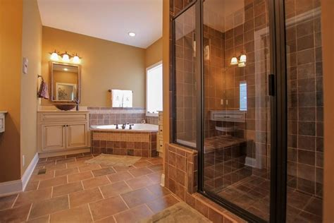 Top Simple Master Bathroom Designs With Brown Master