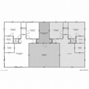 immeuble etage courant plan 16 pieces 200 m2 dessine par With plan appartement 150 m2 16 plan de maison duplex