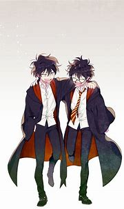Pin By Kura On Harry Potter In Anime Style Harry Potter