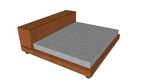 platform storage bed plans howtospecialist