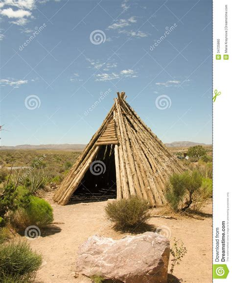 Dwelling Of The Native American Indian Stock Photo  Image