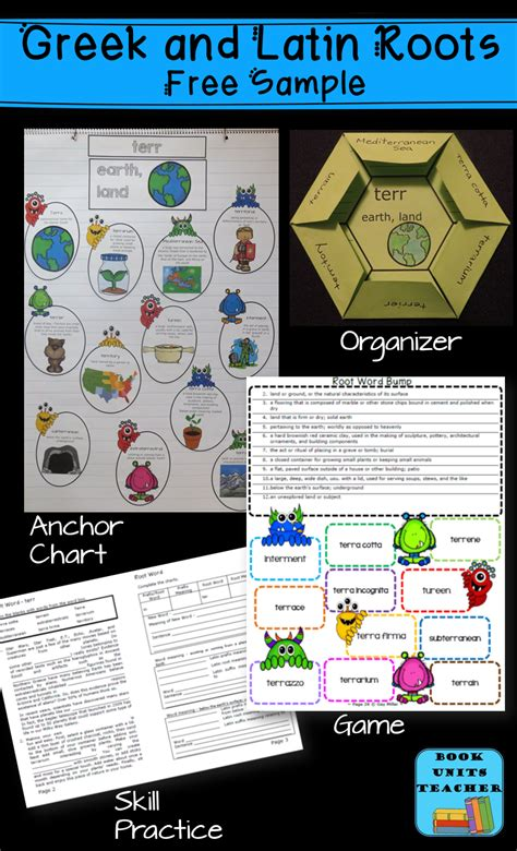 Free Activities For Greek And Latin Roots  Book Units Teacher