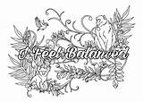 Coloring Adult Affirmations Behance sketch template