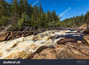 Beautiful River Rapids Sweden Stock Photo 434925190 ...