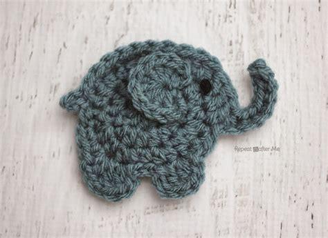 crochet elephant e is for elephant crochet elephant applique repeat crafter me