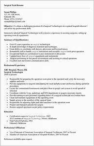 Surgical tech resume builder resume resume examples for Technical resume builder