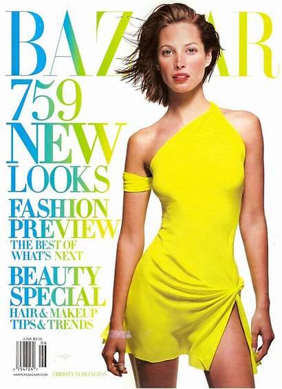 Magazine Bazaar Harper 2002 June Covers Christy
