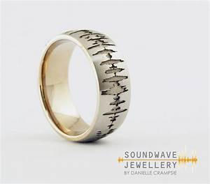 mens custom soundwave ring soundwave jewellery With wedding ring sound wave
