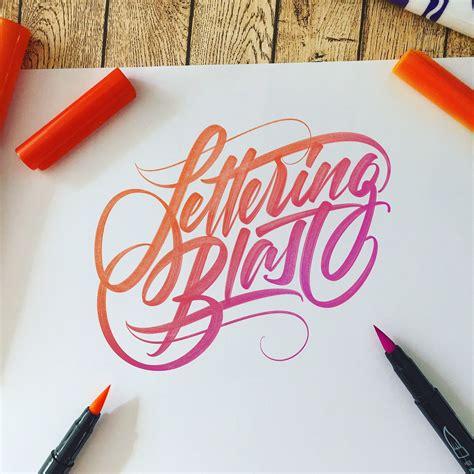 lettering blast   works    behance