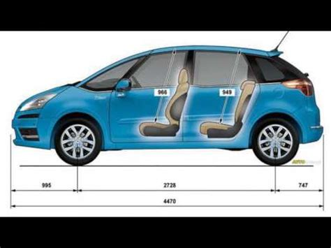 dimension grand c4 picasso citroen c4 picasso dimensions