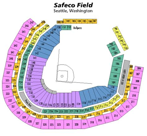 breakdown    mobile park seating chart seattle mariners