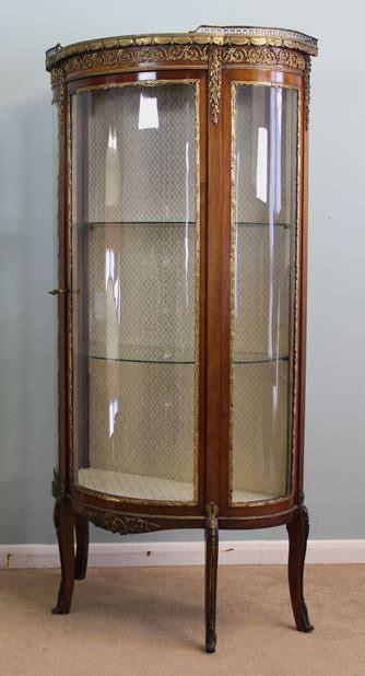 Antique Vitrine Glass Display Cabinet  Antiques Atlas