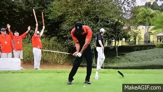 Tiger Woods - 5 iron FO - Slow motion on Make a GIF