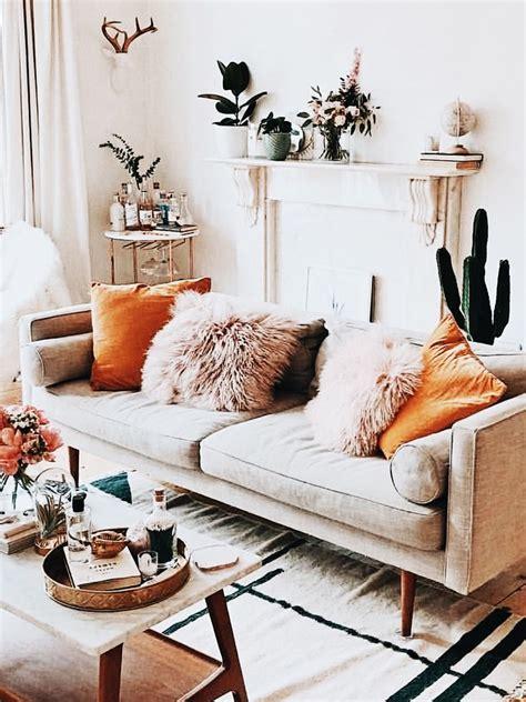 charming living room design  orange color themes