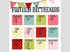 Birthday Calendar Calendar Template Free & Premium