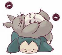 Totoro and Snorlax by ...Snorlax And Totoro