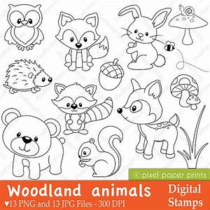 Woodland Animals - Digital stamps - Clipart by Pixel Paper ...