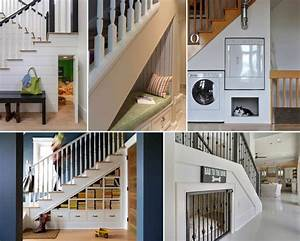 cleverly utilize the space under the stairs With interior design ideas space under stairs