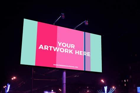 night scene advertisement billboard mockup   mockup