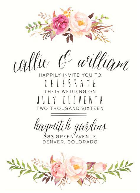 ideas  floral wedding invitations