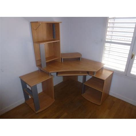 bureau ordinateur d angle bureau d 39 angle ordinateur avec rangement taille ajustable