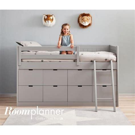 lit surélevé bureau chambre enfant avec lit à tiroirs bureau et rangement