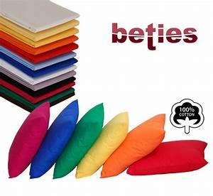 Kissenbezüge 40x60 Günstig : beties kissenbezug aus 100 baumwolle 40x60 cm in 13 farben ~ Markanthonyermac.com Haus und Dekorationen
