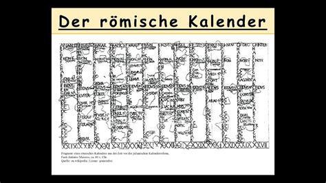 der roemische kalender erklaert wie datierten die roemer latein