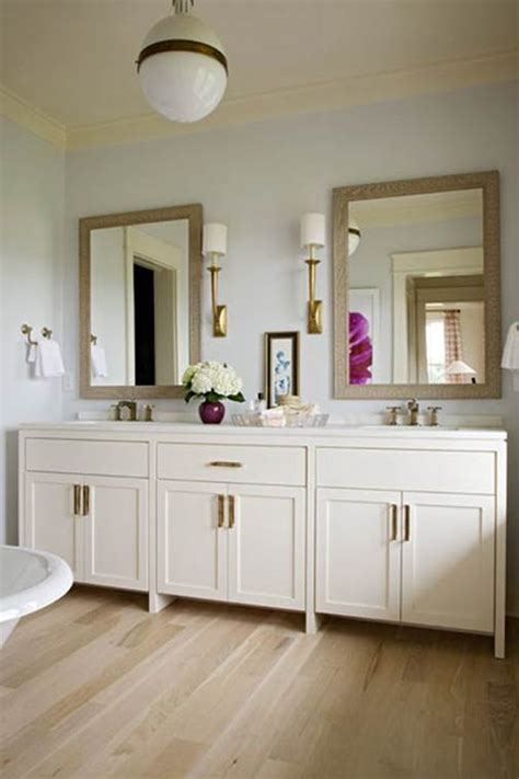 White Cabinets In Bathroom by Bathroom Master Bath Gold Sconces White Cabinets Light