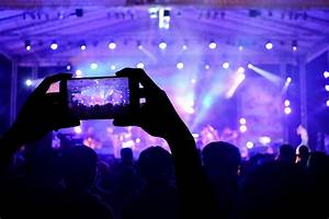 hi-tech technology video music concerto smartphone stage ...