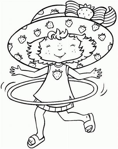 Hula Hoop Tarta Fresa Pintar Colorir Morango