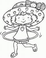 Strawberry Hoop Hula Coloring Pages Shortcake Printable Template Birthday Short sketch template