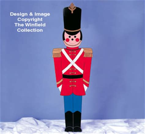 christmas giant toy soldier woodcraft pattern