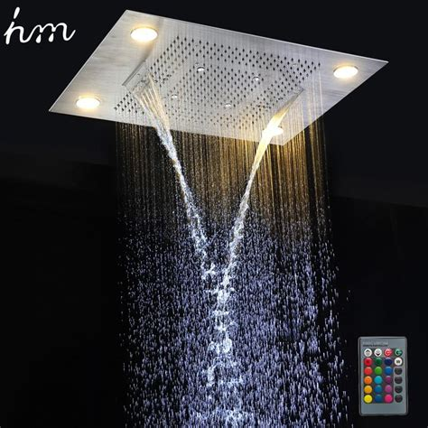 hm multi function led light shower head mm ceiling