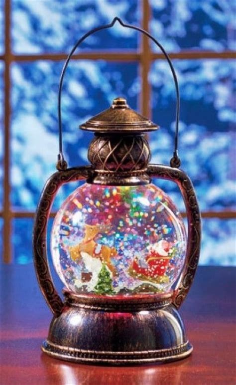 glitter snow globe lantern pictures   images