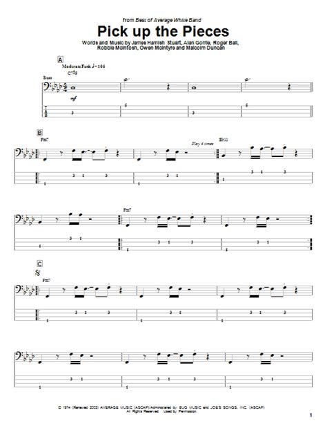 Pick Up The Pieces By Average White Band  Bass Tab  Guitar Instructor