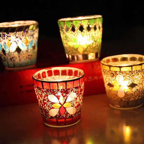 glass candle holders mosaic glass candle holder unique candle holders