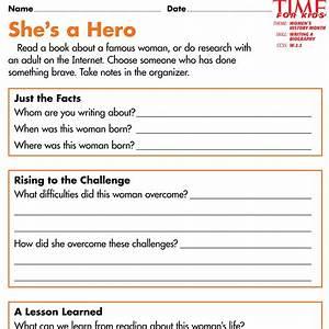 Biographies for kids organizer