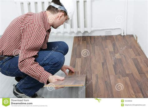 laminate flooring installation royalty  stock images