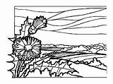 Coloring Pages Landscapes Adults Adult Summer Beach Landscape Print Countryside Sheets Printable Books Sheet Scenic Field Nature Comments Deep sketch template