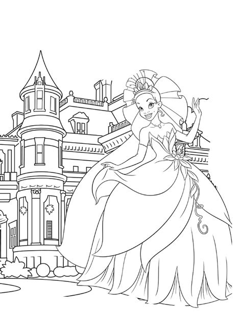 coloring castle princess and the frog coloring pages to print az