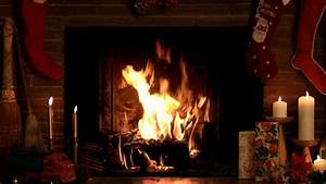 4 Hours Christmas Yule Log Fireplace with Crackling Fire ...