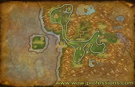 herbalism wow mining feralas map ore guide plaguelands western warcraft leveling professions maps 125 truesilver goldthorn herboriste khadgar moustache guia
