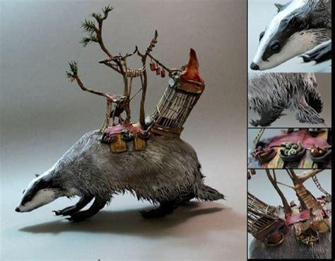 fantastic otherworldly sculptures  animals designtaxicom