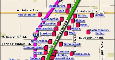 map  las vegas strip  printable maps