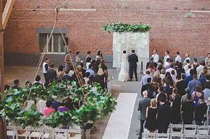 los angeles warehouse wedding stephanie scott green With wedding ceremony in los angeles