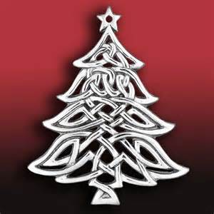 hand and hammer celtic christmas tree silver ornament silver superstore